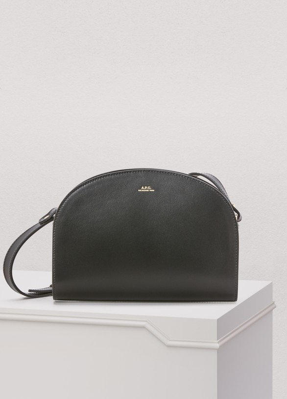 A.P.C. Half-moon thick leather bag.