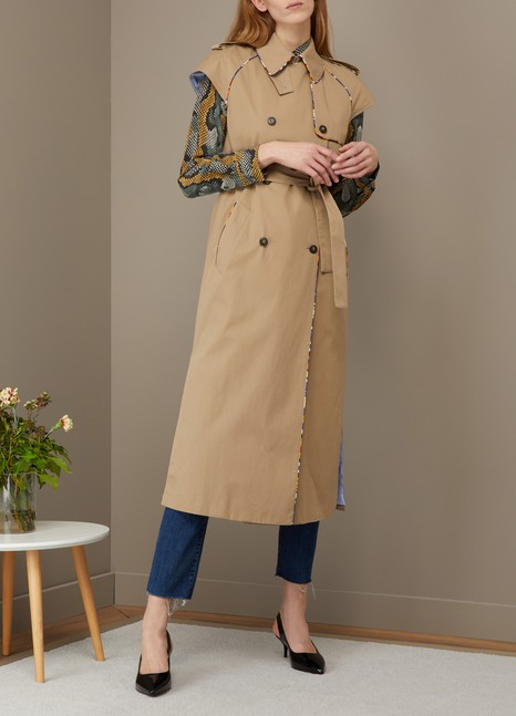 Short sleeve trench coat Stella Jean Sale Looking For mVC4w63