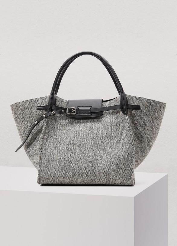 Celine Medium Bag In Woolen Fabric