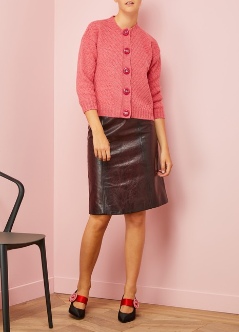 Prada Mid-length leather skirt