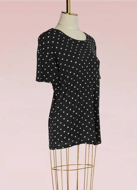 Majestic Filatures Cotton and Cashmere Dotty T-shirt
