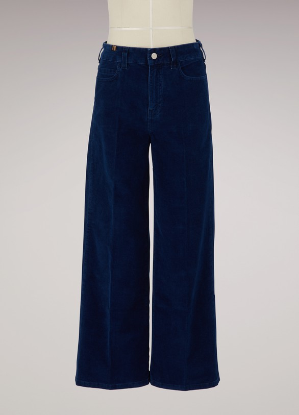 Atelier NotifyVelvet cropped large jeans