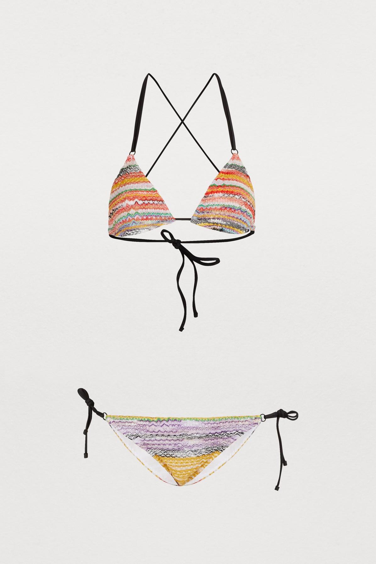 Bikini triangle en maille