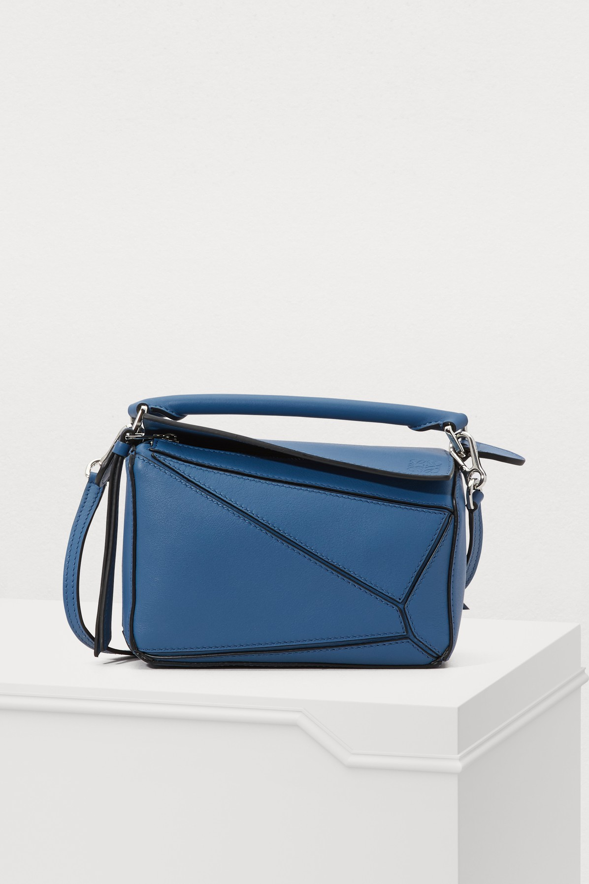 Mini Puzzle Calfskin Leather Bag - Blue in Varsity Blue