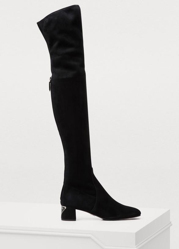 Stretch high-top boots femme   Prada   24 Sèvres 0736d386c028