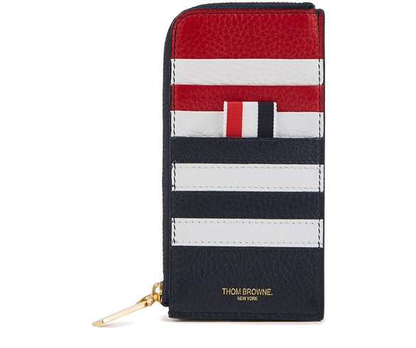 THOM BROWNE4-Bar zipped leather wallet