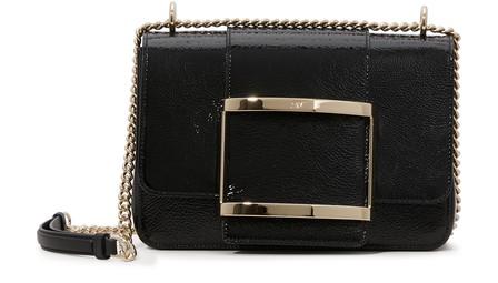 Roger Vivier TrÈS Vivier Small Shoulder Bag In Black