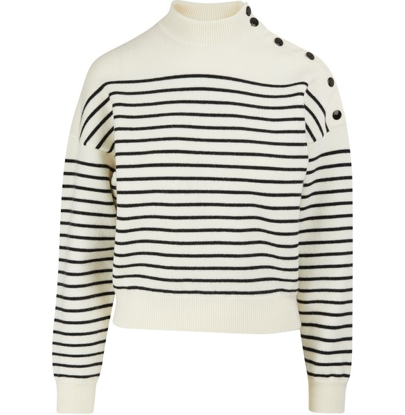 CELINECropped striped knit jumper