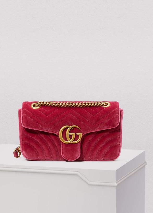 c3ef24fb061d Sac porté épaule GG Marmont en velours femme   Gucci   24 Sèvres