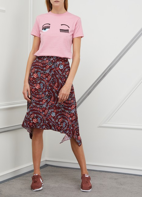 See by Chloé Printed midi skirt