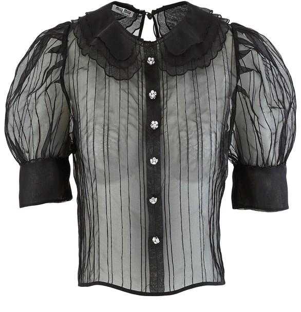 MIU MIUOrganza shirt