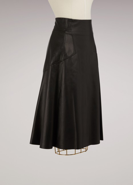 Alexander McQueenHigh Waisted Leather Skirt