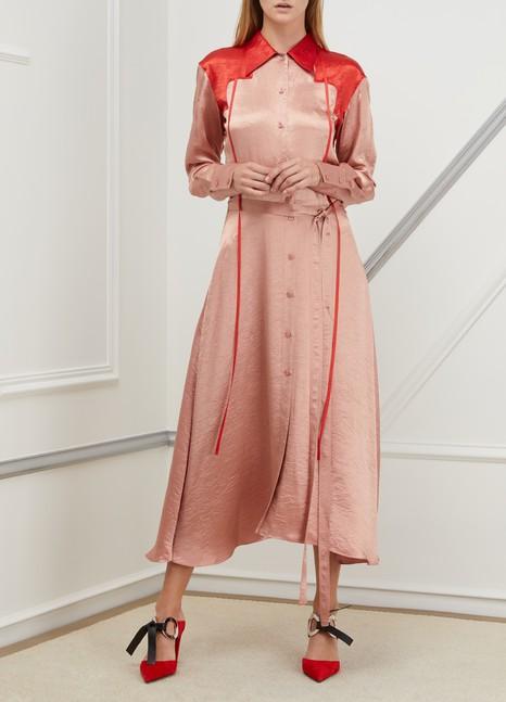 Nina RicciBicolor satin dress