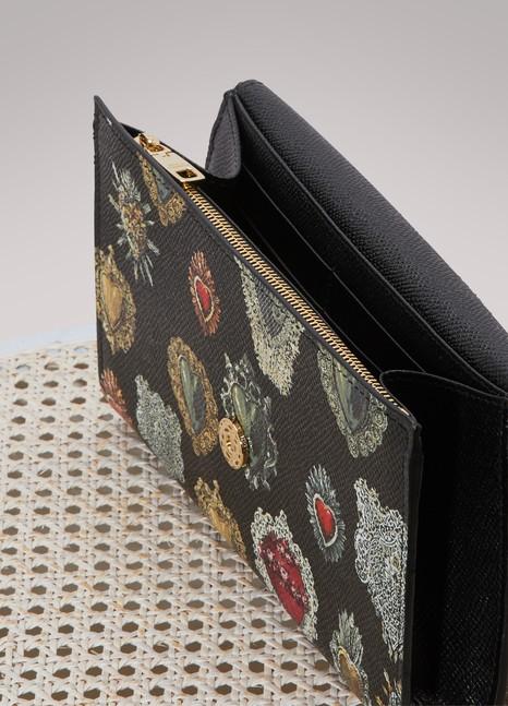 Dolce & Gabbana Portefeuille à chaine imprimé Hearts NGrh8