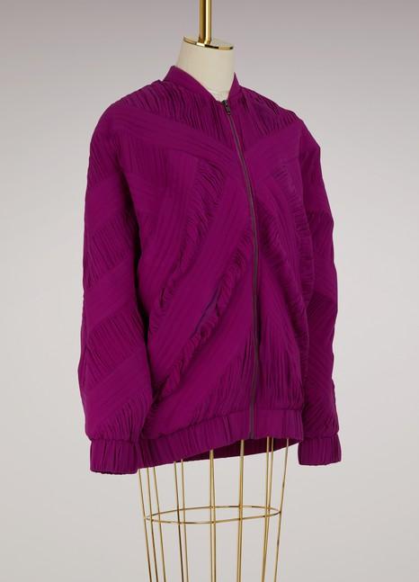 KochéSilk embroidered bomber jacket