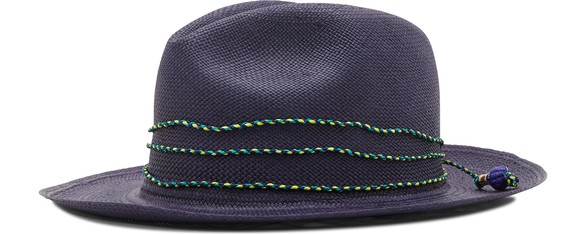 SENSI STUDIO Panama hat with straw details