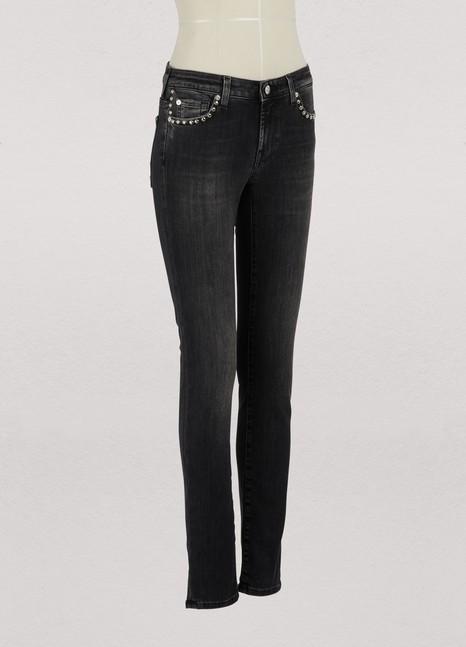 7 For All MankindStudded Pyper skinny jeans
