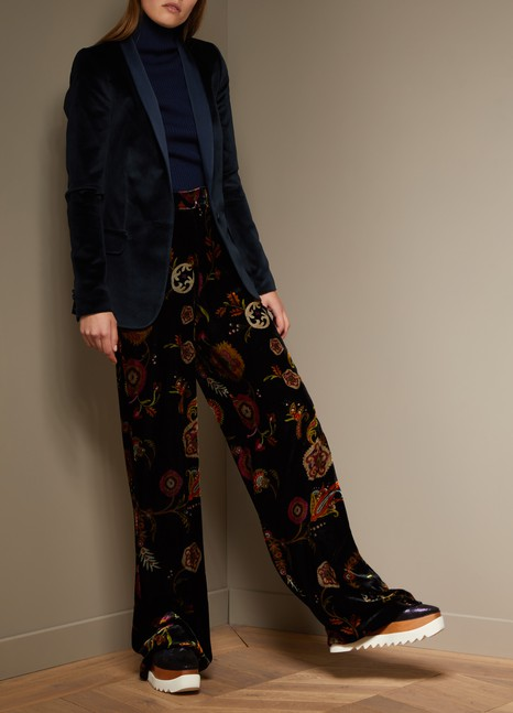 Etro Pantalon large en velours