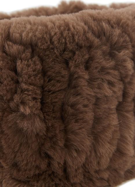 YVES SALOMONRabbit fur headband