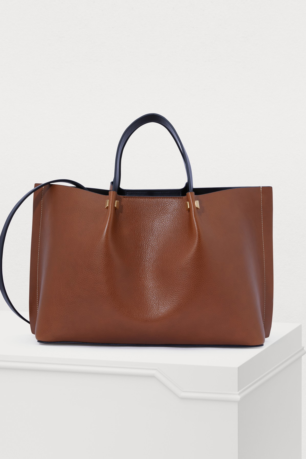 60f34dd6492 Valentino Garavani Escape Go Logo Tote Bag in Tan-Black