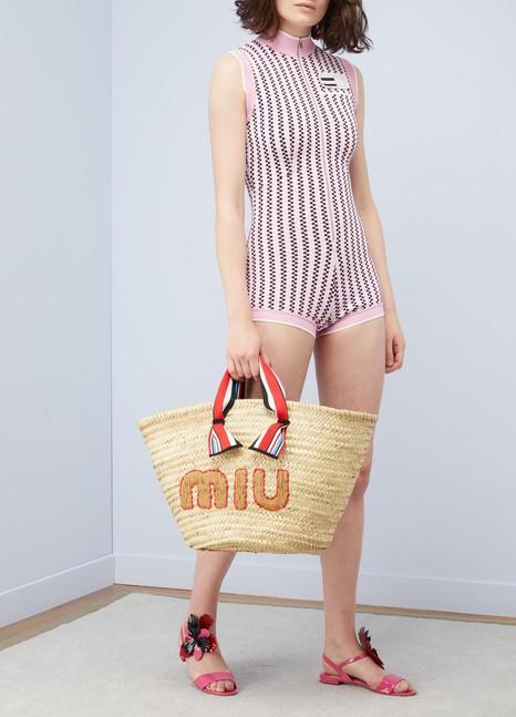 Miu MiuSac de plage en paille