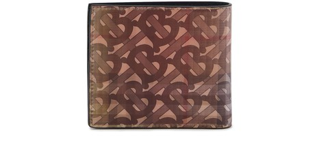 BURBERRYReg CC leather two-section wallet