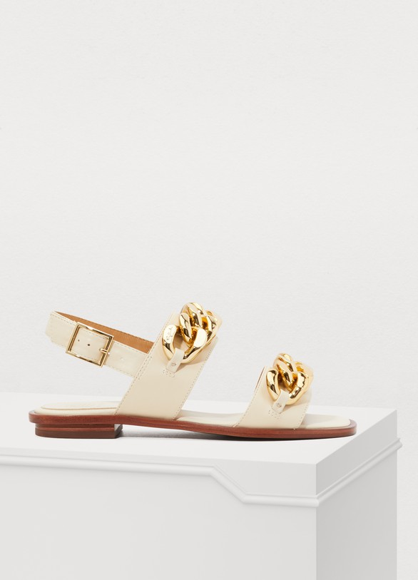 da97b278423 Tory Burch Adrian flat sandals
