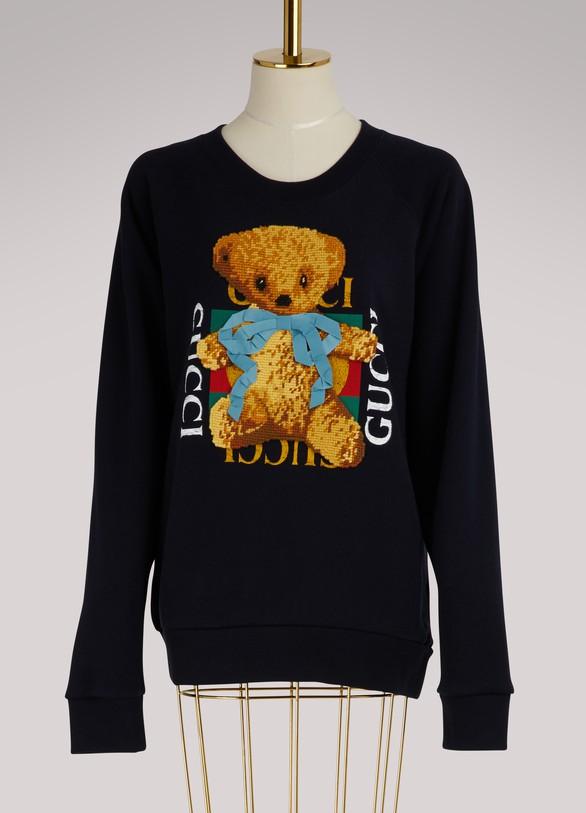 GUCCISweat-shirt avec logo Gucci et Teddy bear