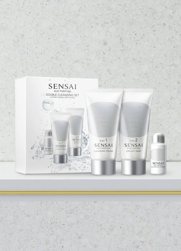 SENSAISilky Purifying Double Cleansing Set