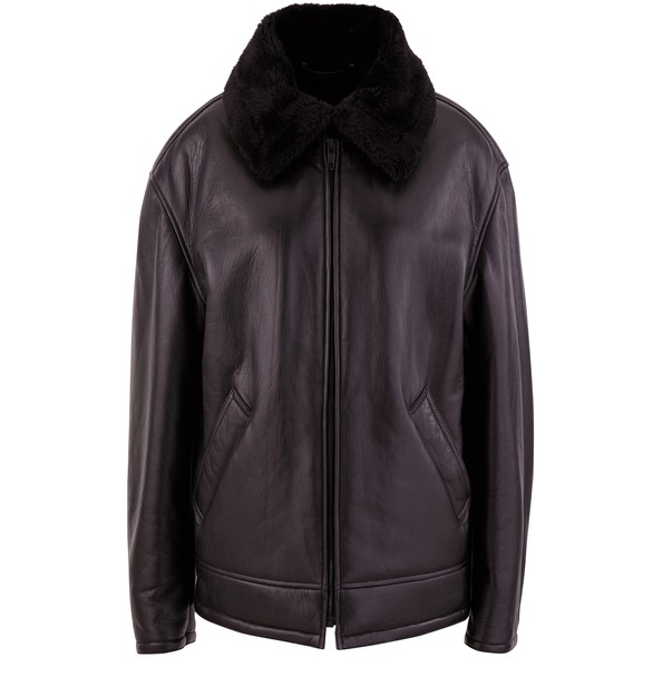 BALENCIAGABomber jacket with fake fur