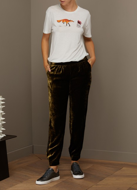 Roberto Collina Pantalon jogging en velours