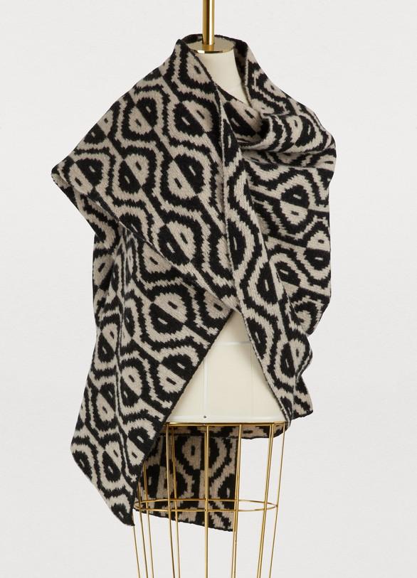 Dries Van NotenMohair and wool scarf