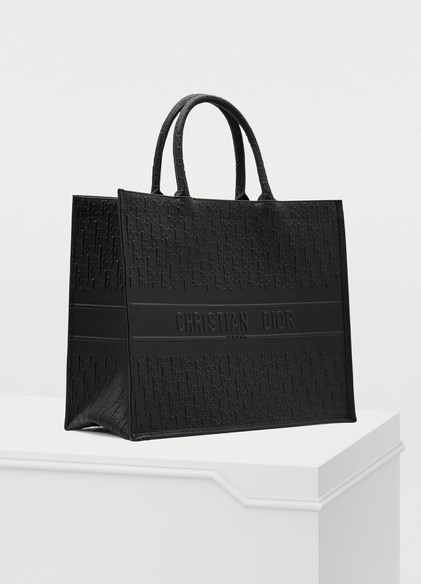 Dior Book Tote Oblique Bag (Black)
