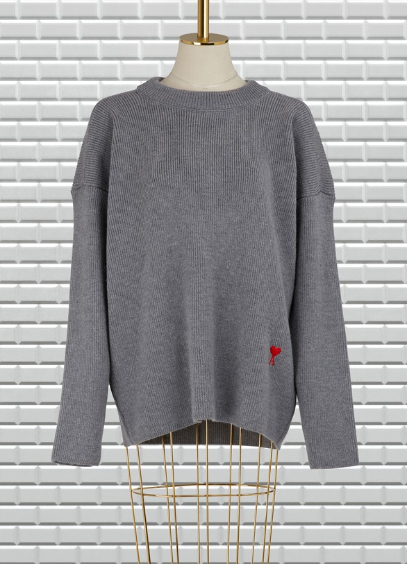 Ami Wool round neck sweater