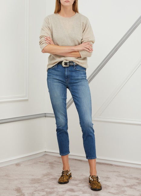 Mother The Looker high-waisted cropped skinny jeans