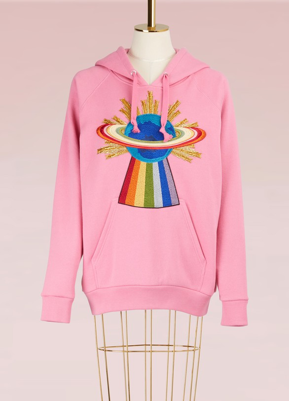 GUCCI Embroidered Hooded Sweatshirt