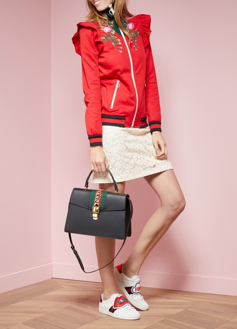 Gucci Sylvie Leather Top-Handle Bag