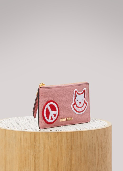Miu Miu Porte-cartes Patches