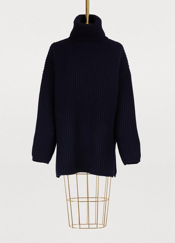 0ea514d7d3dc Pull oversize col roulé en laine femme   Acne Studios   24 Sèvres
