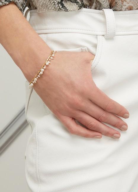 5 OCTOBRELinon silver gilt and freshwater pearl bracelet