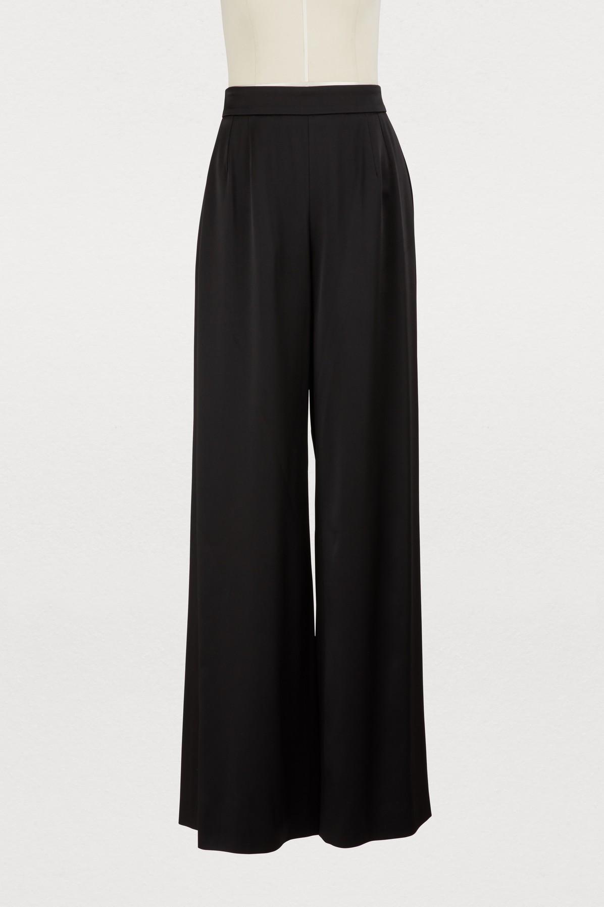 Pantalon avec bandes en satin