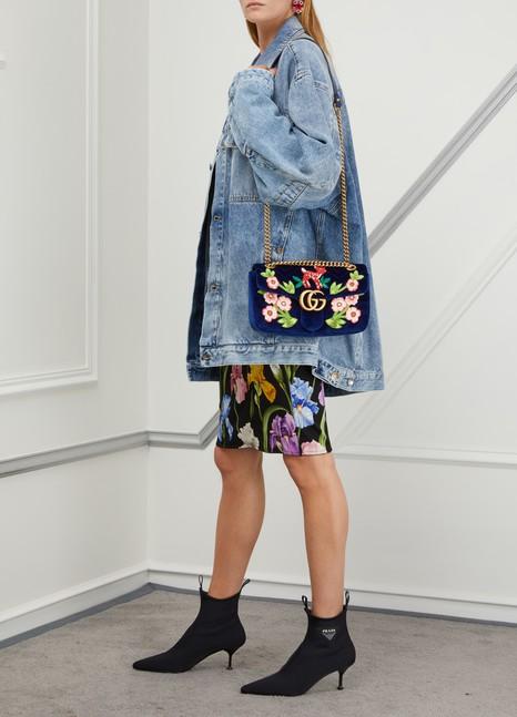 GucciGG Marmont velvet SM shoulder bag