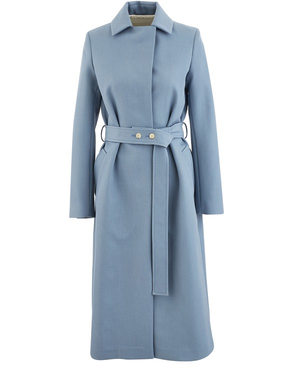 BOONTHESHOP Long wool trench coat