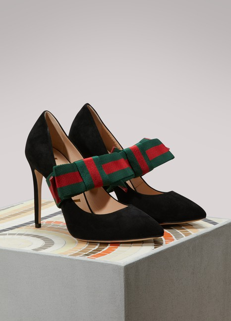 Gucci Bow leather pumps