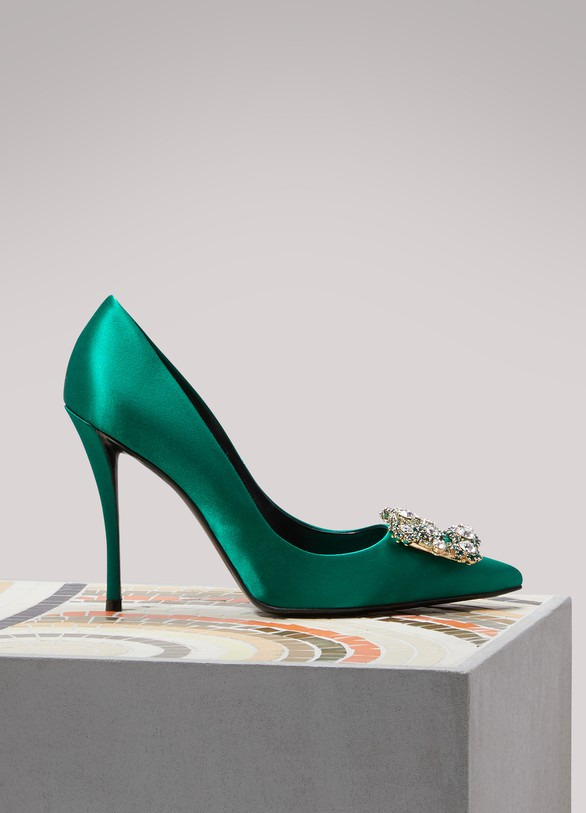 Roger Vivier Flower Strass pumps