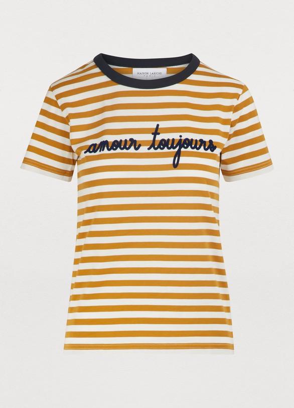 Maison LabicheT-shirt rayé Amour toujours