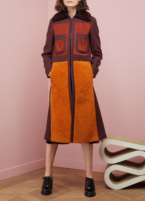 Anya Hindmarch Manteau long 70s en laine