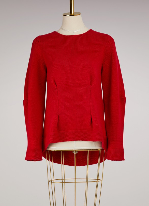 ALEXANDER MCQUEEN Pull large col rond en cachemire