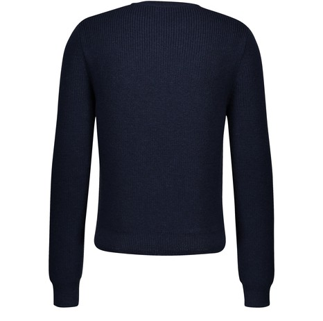 CELINE Wool round-neck jumper with ribbing
