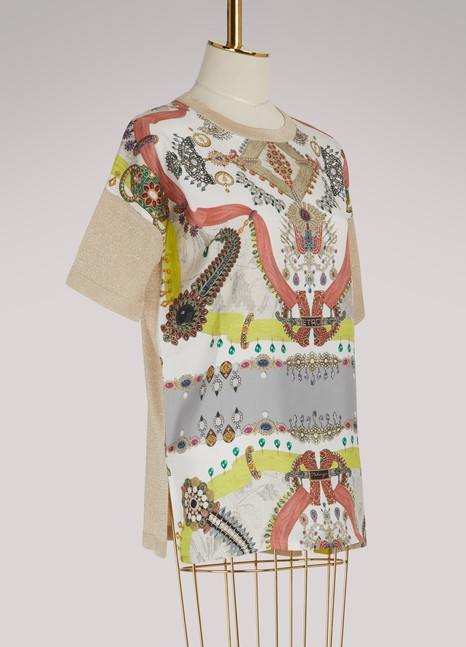 Etro Printed silk T-shirt